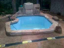 Swimming pools and rock art