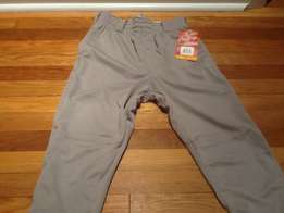 Grey Baseball Pants - Elastic (NEW)