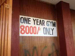 One Year Gym Subscription 8000/-..wow!! Gym in South C Nairobi