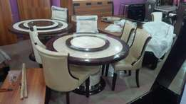 Round marble dining table by 6