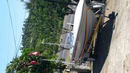 5.7m boat with brand new trailer