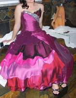 Matric farewell dress.only wear once.Designer dress purple.Vanderbijl
