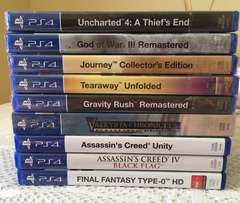 NINE PS4 games for sale