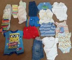 03-3 months baby clothes for boys 40 Items for R450