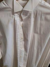 94ac6e73c8f183 Męska koszula biała do muchy i spinek Daniel Hechter 15,5