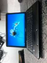 Toshiba laptop with webcam black in color