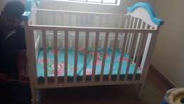 Imported baby cot with Matress