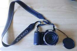 Nikon CoolPix. Good condition. Includes bag and memory card.