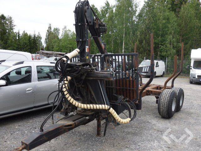 patruuna 9000 forest wagon / caravan with patruuna 860 crane