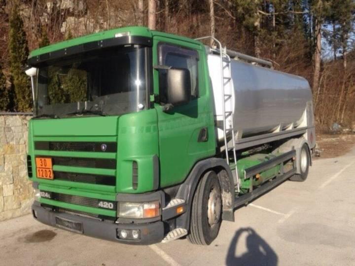 Scania R124 LB 4x2 NA 420, E3, 4x2, 16000l, Treibstoff - 2000