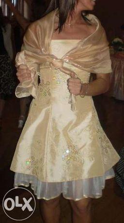 a79f702856 Sukienka na wesele 36 38 ecru