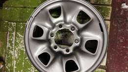 "16""inch Steel Rims for Toyota Hilux Bakkies."