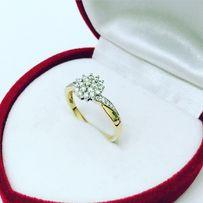 149ab54a3eb120 APART Pierścionek z brylantem 0.26CT złoty zaręczynowy z diamentem