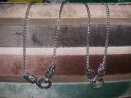 Silver necklaces R30