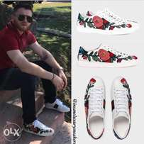 Gucci ace floral flower sneakers - unisex