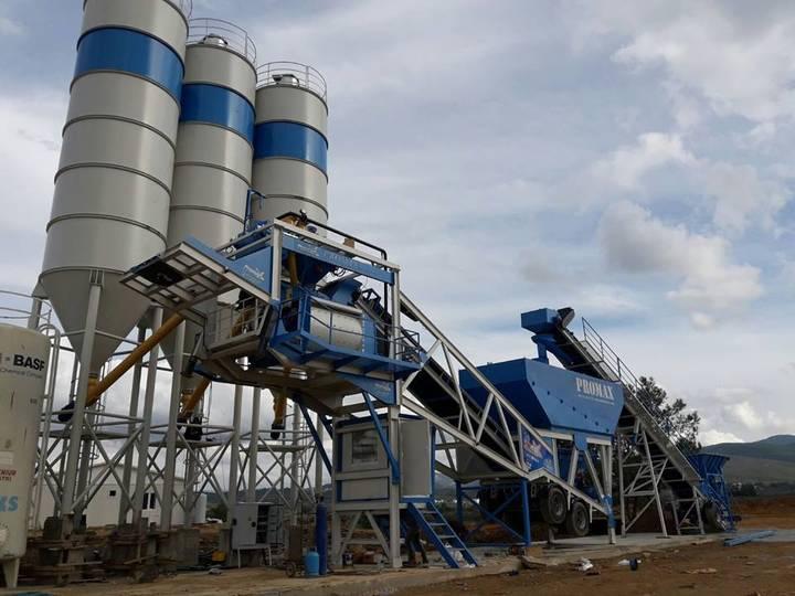 Promax-Star Mobile Concrete Batching Plant M100-TWN   twin shaft mixer   100 m3/h