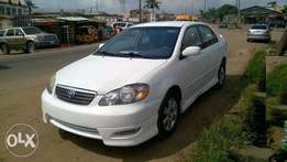 Very Clean Tokunbo Toyota Corolla Sport 06 white