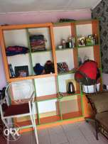 16 spaced cabinet/shelf