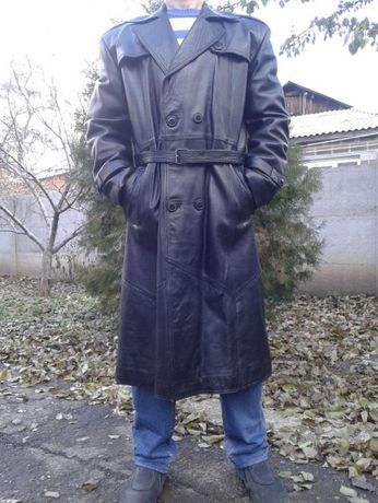 fc1548bc Плащ кожаный зимний мужской пальто мужское зимние кожаное Донецк -  изображение 1