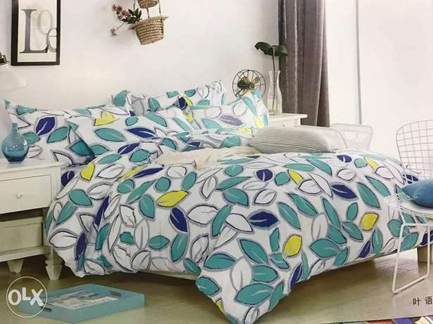 Warm cotton duvets with one matching bedsheet and 2 pillowcases Kitengela - image 5