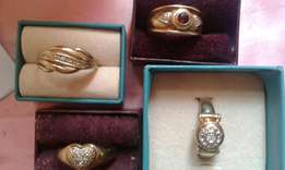 Four gold 9ct ladies rings for sale for sale  Cape Town City Centre