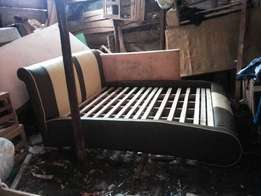 Give away Piping leather bed available now.