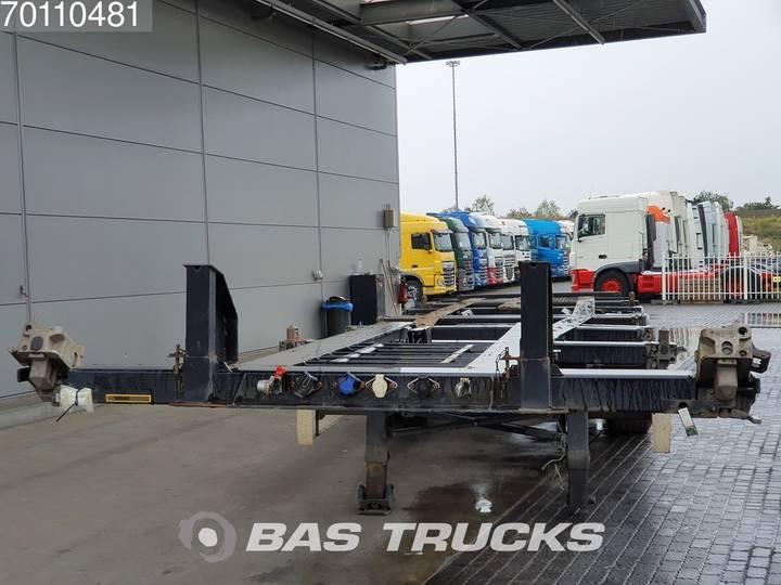 Krone 2x20-1x30-1x40ft. 3 axles Ausziehbar Extending Chassis - 2012 - image 5