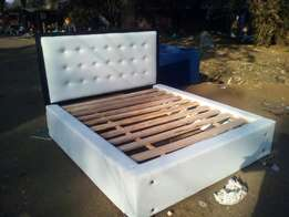 Queen size leather bed - free delivery