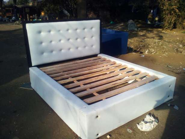 Queen size leather bed - free delivery Westlands - image 1