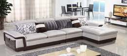 L shaped sofas with pillows