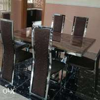Executive marble dining table with chairs (*5547)