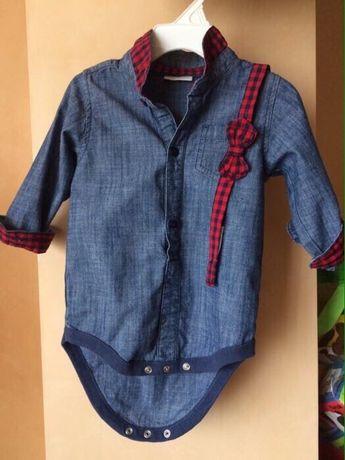 Джинсовая рубашка с галстуком-бабочкой  350 грн. - Одяг для ... 6221c56d4f320