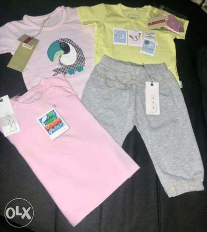 Baby brand clothes, 4 pieces