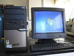 dual core computer for sale complete PC set fully loaded plug and play