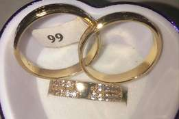 Gold plated wedding ring CC