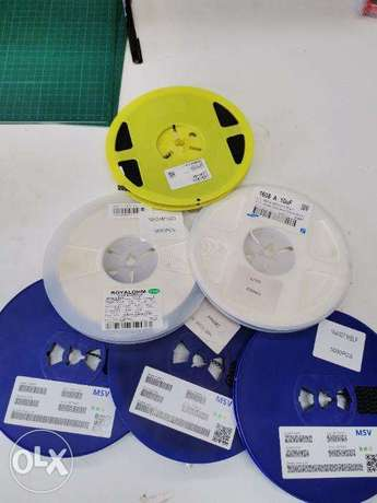 SMD resistors and diodes and capacitors ROLLS