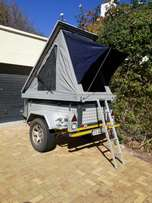 Off road / 4x4 trailer with roof top tent made by Alu cab R70000