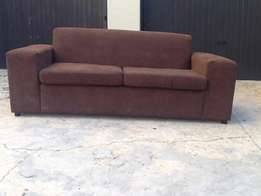 2 seater dark brown couch