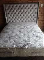 Combo set Sealy double pillow top bed