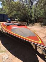 16ft Boat hull and trailer for sale