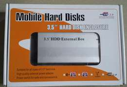 "New 3.5"" HDD External Box Mobile Hard Disks used with Mac & Win OS"