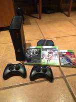 Xbox 360 console, 15 games and 1 controllers for sale !