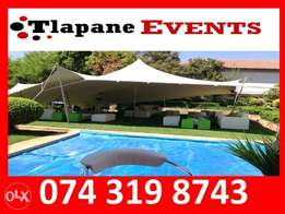 Stretch Tents, Couches, Tiffany Chairs for Hire