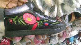 Floral Gucci sneakers