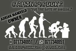 Specials on our PS4 and XBOX ONE games at GAMING4GEEKS.
