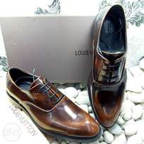 Madt brown LV Leather shoes