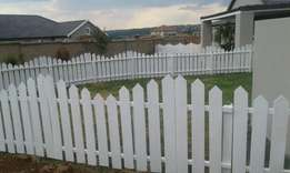 White wave Picket Fencing