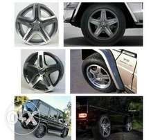 G wagon class 2016 AMG alloy Wheel 4 rims with the tyres