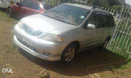 2002 Silver Mazda MPV, very clean and Well Maintained.