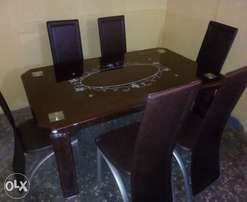 New Padded curve glass dining table